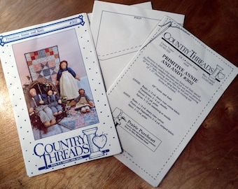 Vintage Country Threads Patter 302 - Primitive Annie and Andy