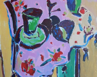 Painting from photo Giclee Print of Original Acrylic Painting - Abstruct Still Life - Colorful Art