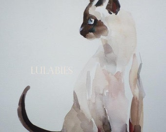 SIAMESE CAT ORIGINAl by LULABIES not a print