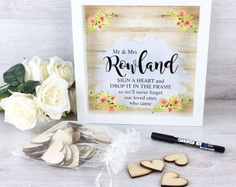Personalised Wedding Guest Dropbox Frame