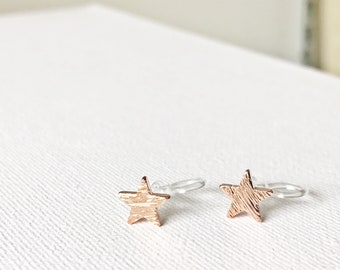 Ear Cuff Star Invisible Clip Earrings Studs Hypoallergenic Non Pierced #45
