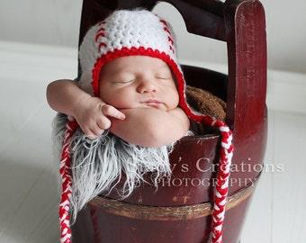 Crochet Baby Baseball Hat, Newborn Sports Hat, Boy Baby Hat, Infant Coming Home Hat, Baby Shower Gift,