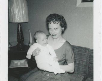 Vintage Snapshot Photo: Kathleen & Kevin, 1961 (81635)