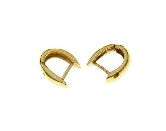 Vintage Gold Hoop Earrings 19.2K From Portugal