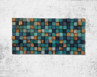 Abstract Acrylic Painting on Wood - Reclaimed Wood Art