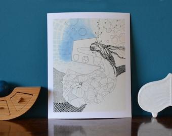 Spring Dreams. A fine art giclee print.