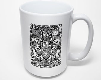 Scottish Arms Mug, Coat of Arms