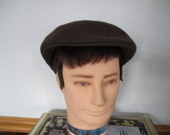 Vintage Gentleman's Wool Ascot London Hat 100% wool Men's Vintage Broner Cabbie,Newsboy Hat Clean