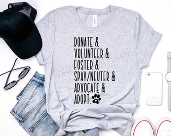Animal Rescue T-Shirt | Animal Advocate Shirt | Animal Volunteer Shirt