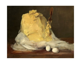 Mound of Butter, French Oil Painting, Antoine Vollon Print