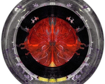 HUMAN SPERE XIV (Ø 100 cm) by Sven Pfrommer - Round artwork is ready to hang