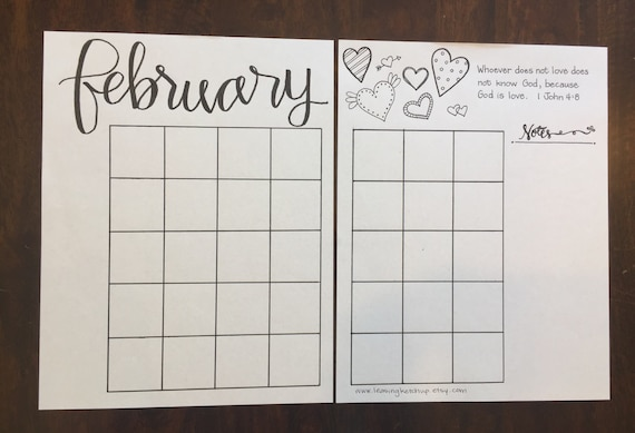 Bullet journal printable template instant download february saigontimesfo
