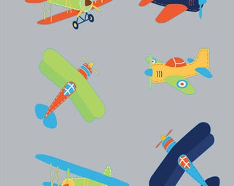 Wall decals - Plane decals - Nursery wall decal - Vinyl wall decals - Plane set