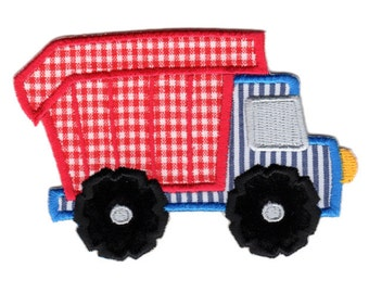 Dump Truck Iron-On Patch Applique - Kids / Baby