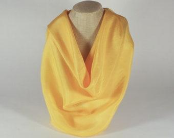 Achiote Molido Silk Scarf - 35x35 - Natural Dye