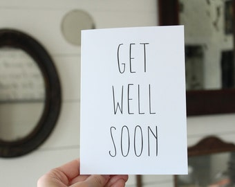 Get Well Soon Card   Simple Greeting Card