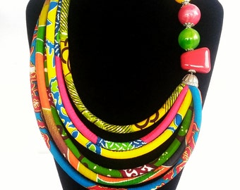 Private Listing for B - Multicolour African Print Necklace