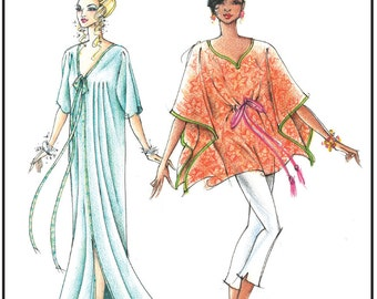Long & Short Caftan and Coverup Length size S-3X - Victoria Jones Sewing Pattern # 315