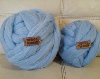 Chunky yarn.Huge skein of super chunky yarn.Super bulky yarns 100% Merino Wool.  The thickest yarn on the market. Giant yarn by woolWow