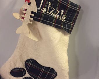 Personalized Cat Christmas Stocking/ Cat Lovers