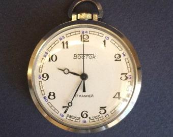 Soviet  pocket watch  Vostok - USSR - mens Pocket Watch - men's watch USSR - serviced