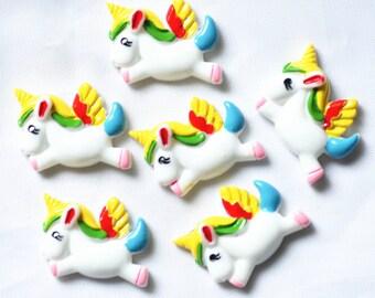 31mmX23mm unicorn scrapbooking embellishments,resin unicorn cabochons,Flatback unicorn decoration free shipping