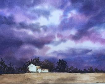 Just Before the Storm - Original Watercolor