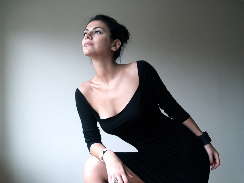 Black Elegant Dress / Classic Midi Dress / Long Sleeves Dress