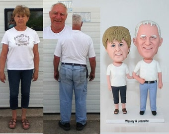 christmas gifts for mom , christmas gifts for dad,Head-To-Toe Custom wedding cake topper from your photos