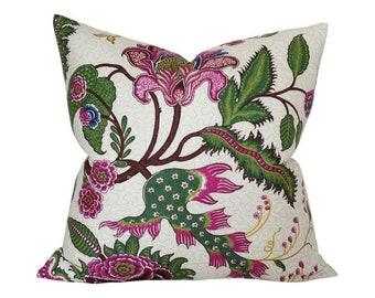 Sinhala Linen Jewel Designer Pillow Cover - Custom Made-to-Order