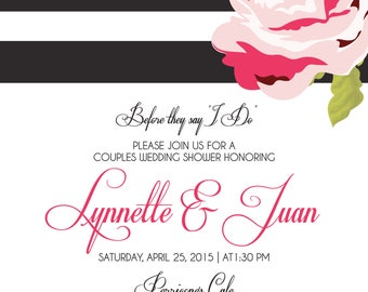 Modern & Chic Bridal Shower Invitation- Digital File Only