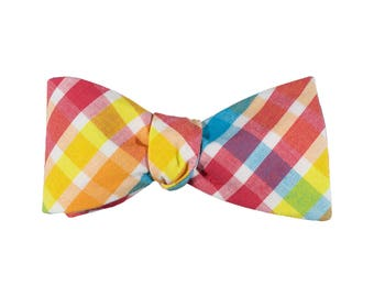 Carnival Plaid Bow Tie