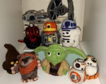 Needle Felted Star Wars Figures