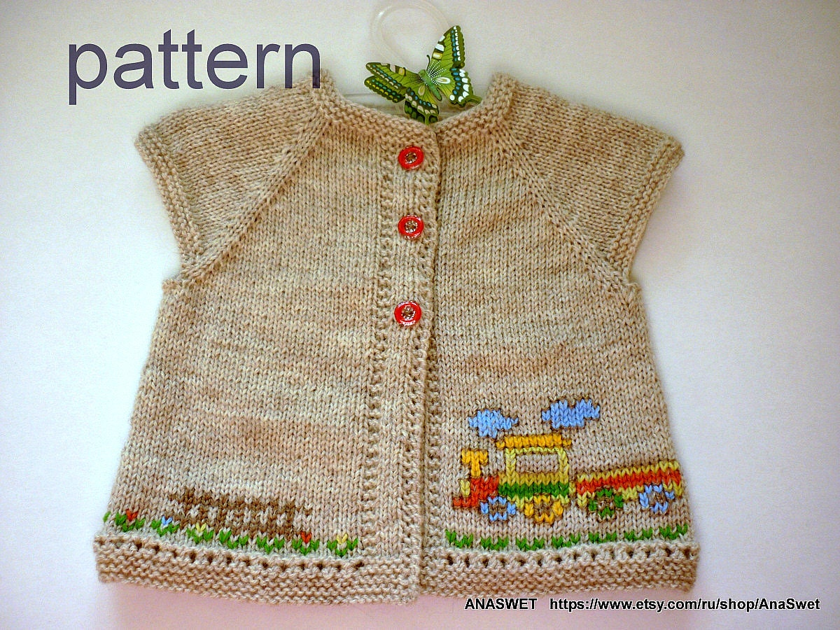 Knitting baby pattern.Pattern baby cardigan.Knitted baby cardigan ...