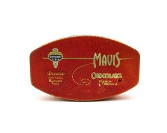 Vintage French Chocolate Tin, Devoine Mavis, French Formula Tin