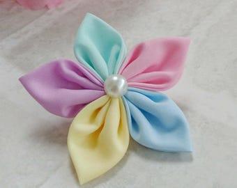 Flower Hair Bobble, Flower Hair Clip, Rainbow Hair Bobble, Hair accessory, Multi colour, Flower Headband, Spring Flowers, Floral Headband