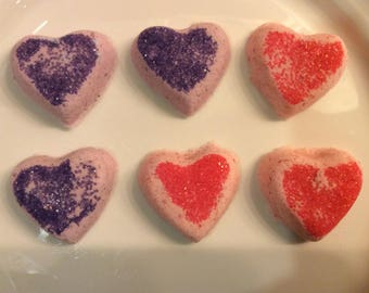 Bitty Heart bath bombs