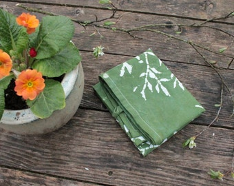 spinach green spring tea towel
