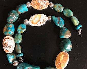 """20"""" Turquoise and Agate necklace"""