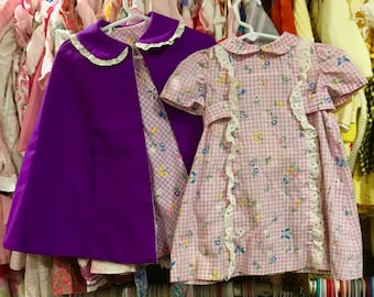 60s Dress and Apron 2/3T