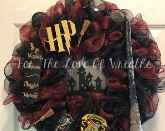 Harry Potter inspired  Wreath