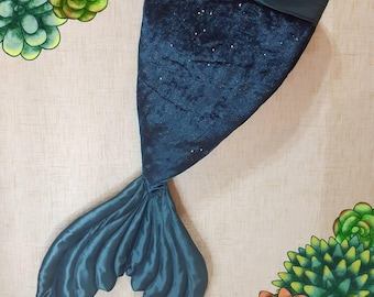 Teal V-shape Mermaid Tail Stocking | Christmas