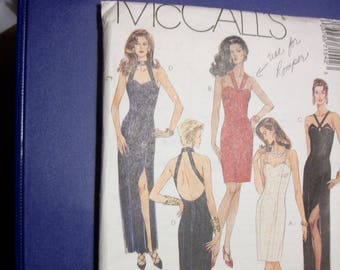 McCall 7154 Misses Size B 8-10-12 dress/gown in two lengths