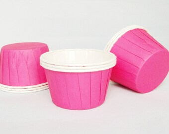 High Quality Pleated Hot Pink Baking Cups Cupcake Cases Muffin Cups