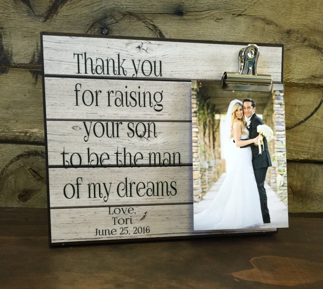 Parents Of The Groom Gift Wedding Gift Thank You For Raising Your