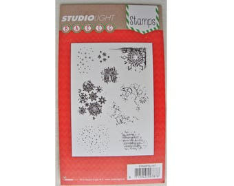 Clear stamps / clear stamps bottoms and corners of Christmas / winter