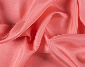 "45"" Wide 100% Silk Crepe de Chine Coral by the yard (1200M161)"