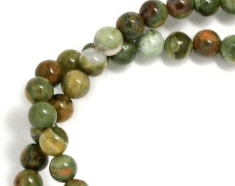 Rhyolite Beads - 4mm Round