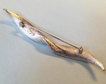 Vintage Coro Leaf Brooch, Coro leaf brooch, Coro pin, Coro brooch, leaf brooch, leaf pin, vintage coro