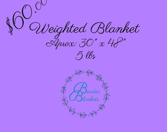 Weighted Blanket 30x48 5lbs